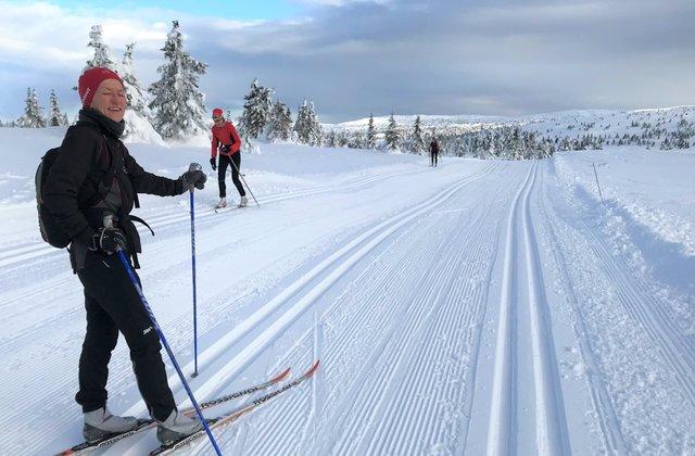 Bodil Brå Alsvik på langrennski på Pellestova