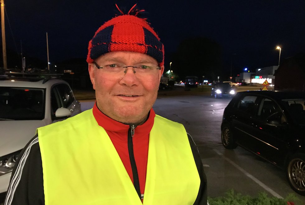 Drosjesjåfør: Morten Abrahamsen på Kondistreninga i Ålesund. (Foto: Marianne Røhme)