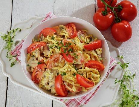 Pasta med friske tomater