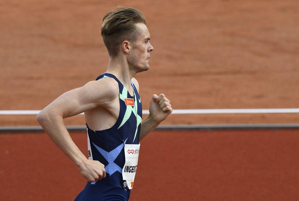 Filip Ingebrigtsen løp søndag under EM-kravet til 3000 meter innendørs. Bildet er fra Impossible Games 2020. (Foto: Bjørn Johannessen)
