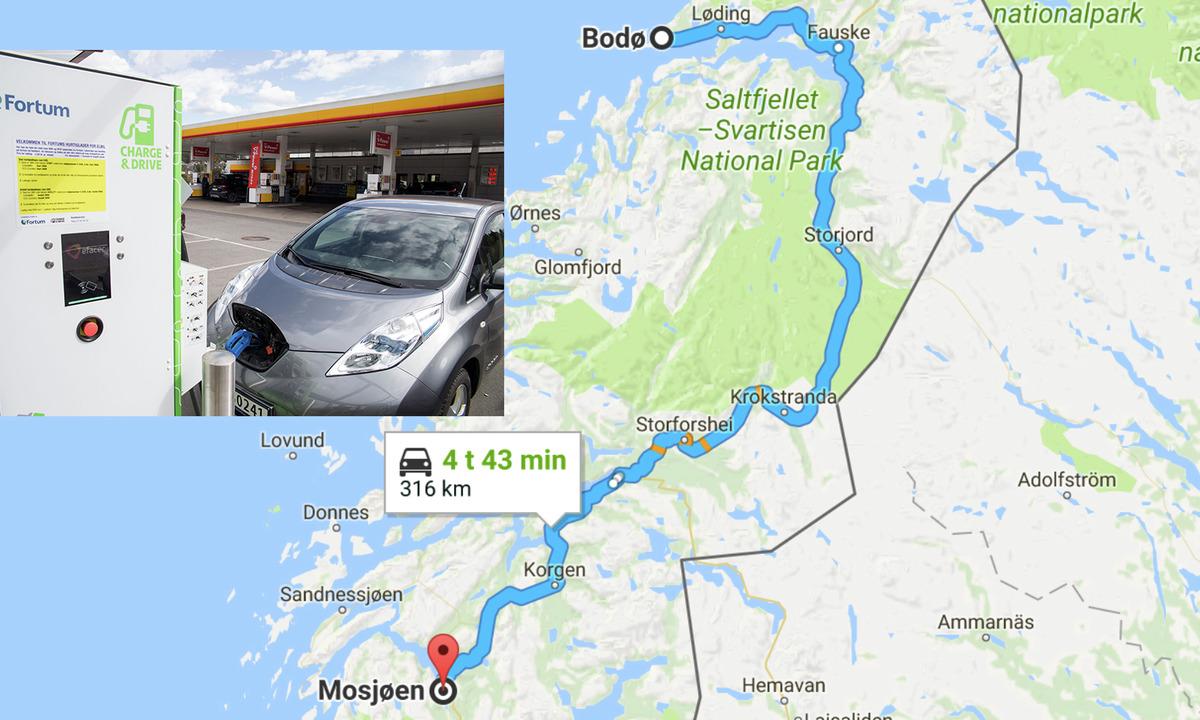 Hurtiglader hver femte mil fra Mosjøen til Bodø