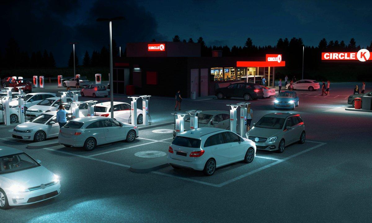 Circle K i gang med utbygging: Gratis lading for elbiler