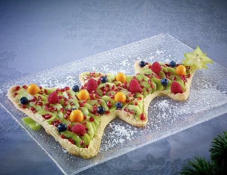 Juletrekake med kiwi