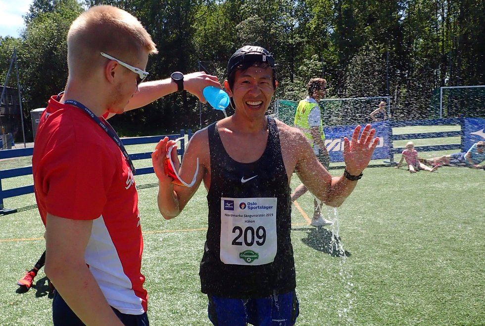 Håkon Urdal kom på tredjeplass på maratondistansen under Nordmarka Skogsmaraton 2019