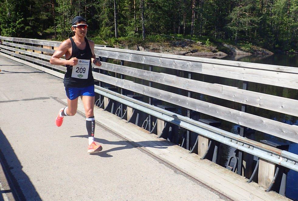 Håkon Urdal løp inn til en tredjeplass i Nordmarka Skogsmaraton 2019