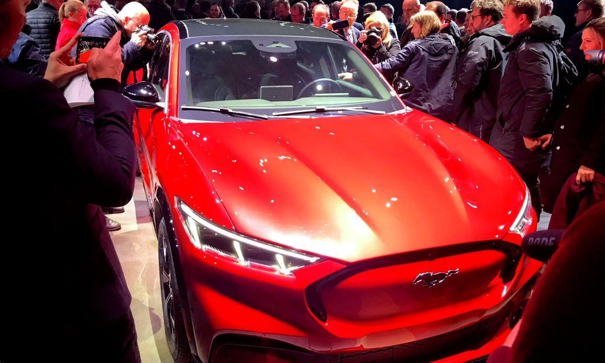 Her er Fords første dedikerte elbil – Mustang Mach-E – i Norge