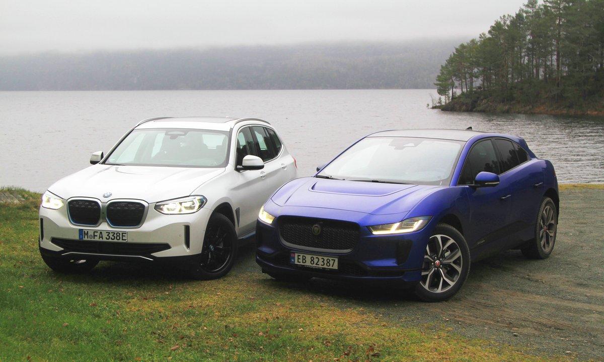 Duelltest: BMW iX3-tyvstart mot «krympet» Jaguar I-Pace