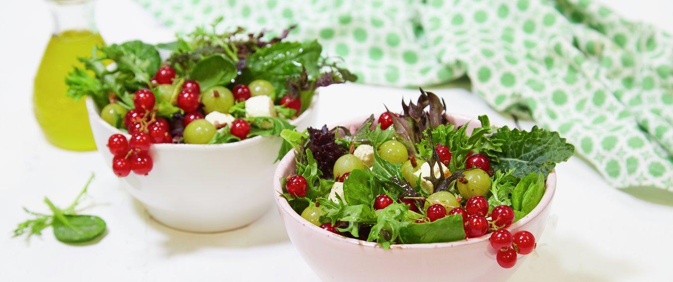 Rips og stikkelsbær er også kjempegodt i matsalater