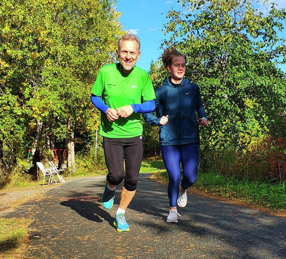 Bartyard i Kondistreninga Trondheim Joar Melting og datter Sofie Melting Haugskott