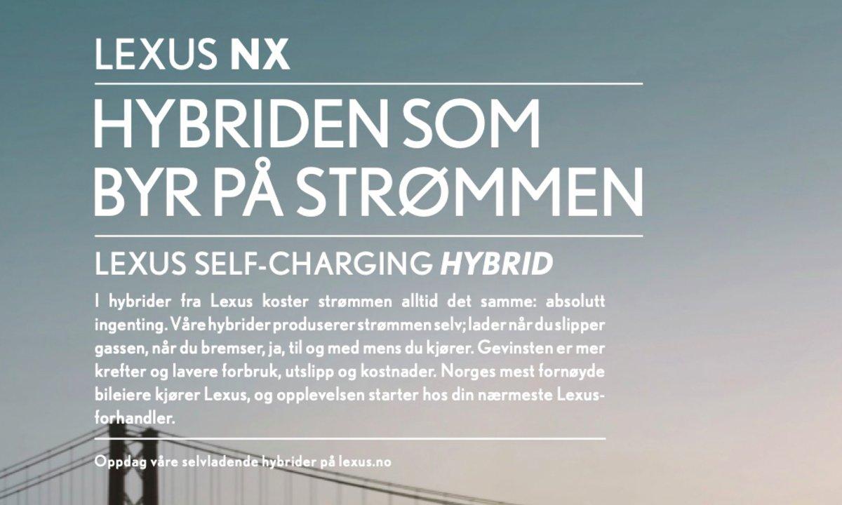 Lexus felt for villedning om «selvladende» hybrider