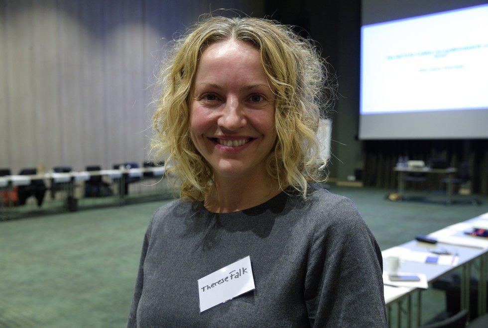 Therese Falk på Kondis sitt landsmøte 2019