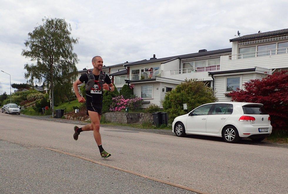 Kjetil Myklebust i Tretoppsløpet på Jeløya 2019