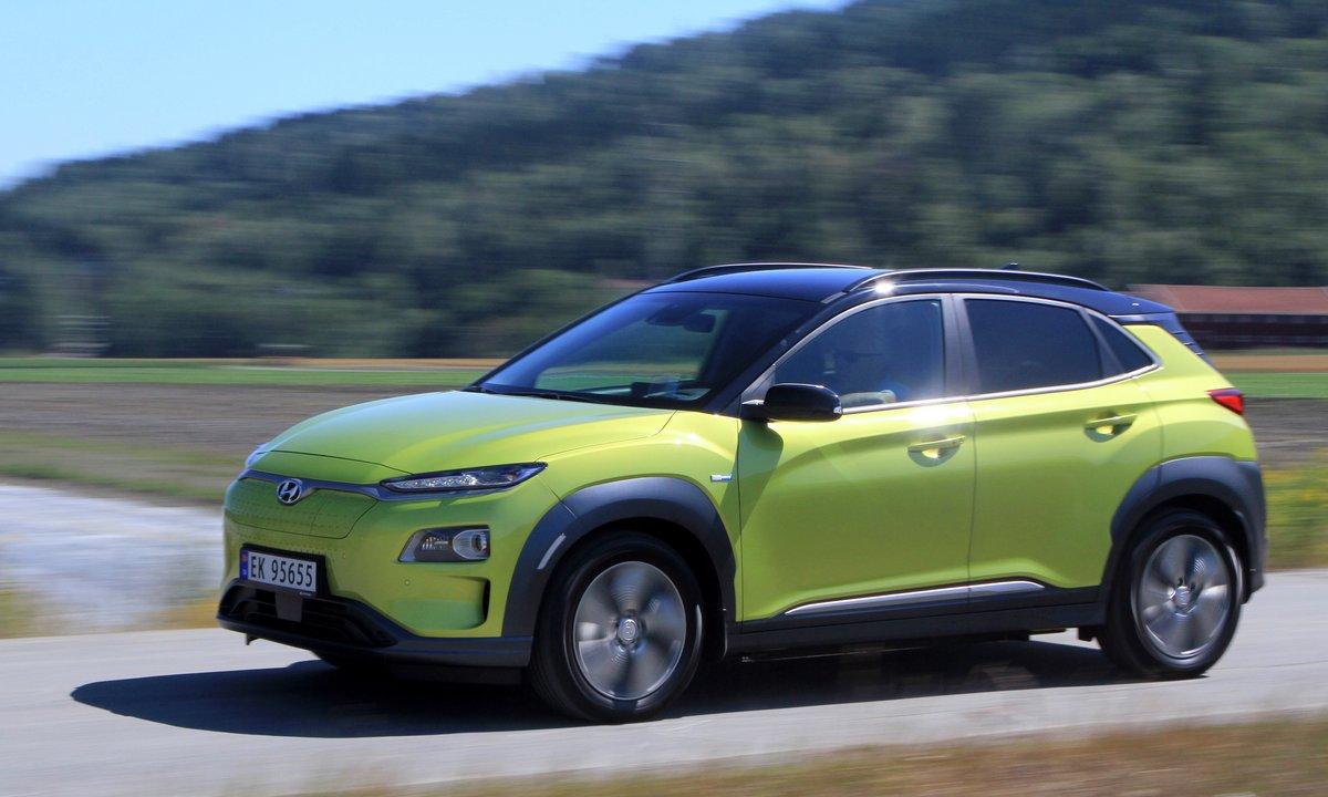 Test av Hyundai Kona: Tøft å få tømt batteriet