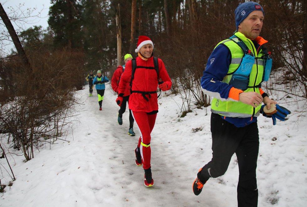 Flotte løpsforhold i Vinterkarusellen Strandebarms tredje