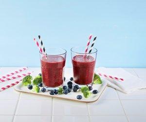 Smoothie med blåbær og brokkoli