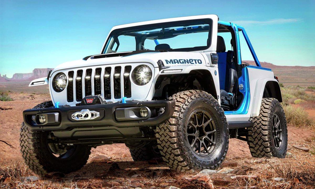 Stil-ikonet Jeep Wrangler blir elektrisk