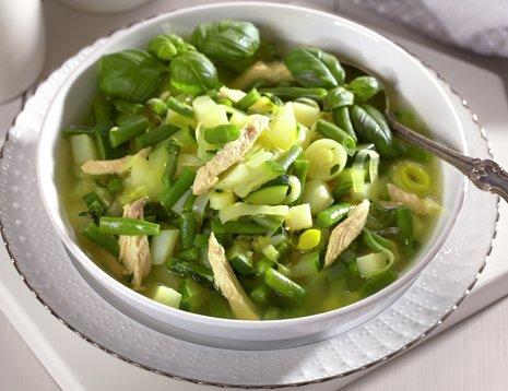 Grønn minestronesuppe