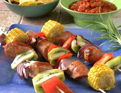Texmex spyd med grønnsaker