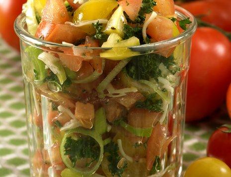 Tomat- og parmesansalsa i glass