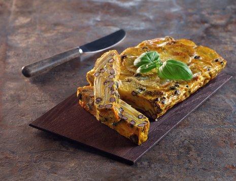 Tortilla med smak fra India, indisk potetomelett