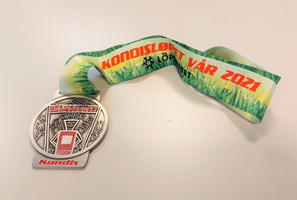 Medalje Kondisløpet vår 2021
