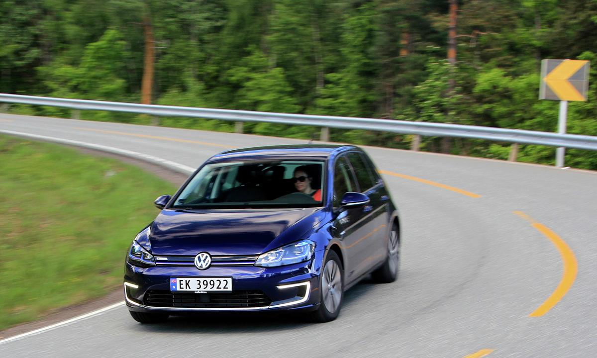 Test av Volkswagen e-Golf: Kan klare 300 kilometer
