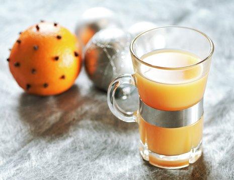 Et glass med appelsingløgg