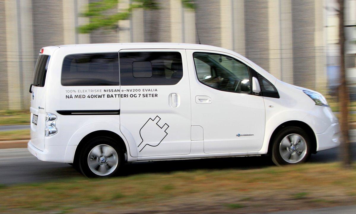 Test av Nissan e-NV200 Evalia: Går lett 200 kilometer