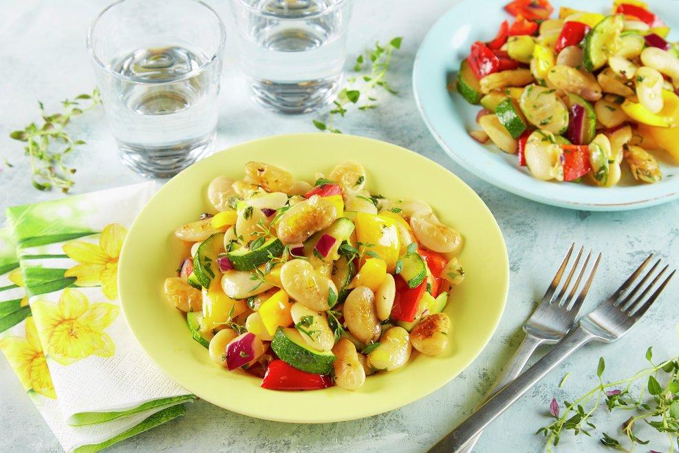 Gryterett med bønner og grønnsaker