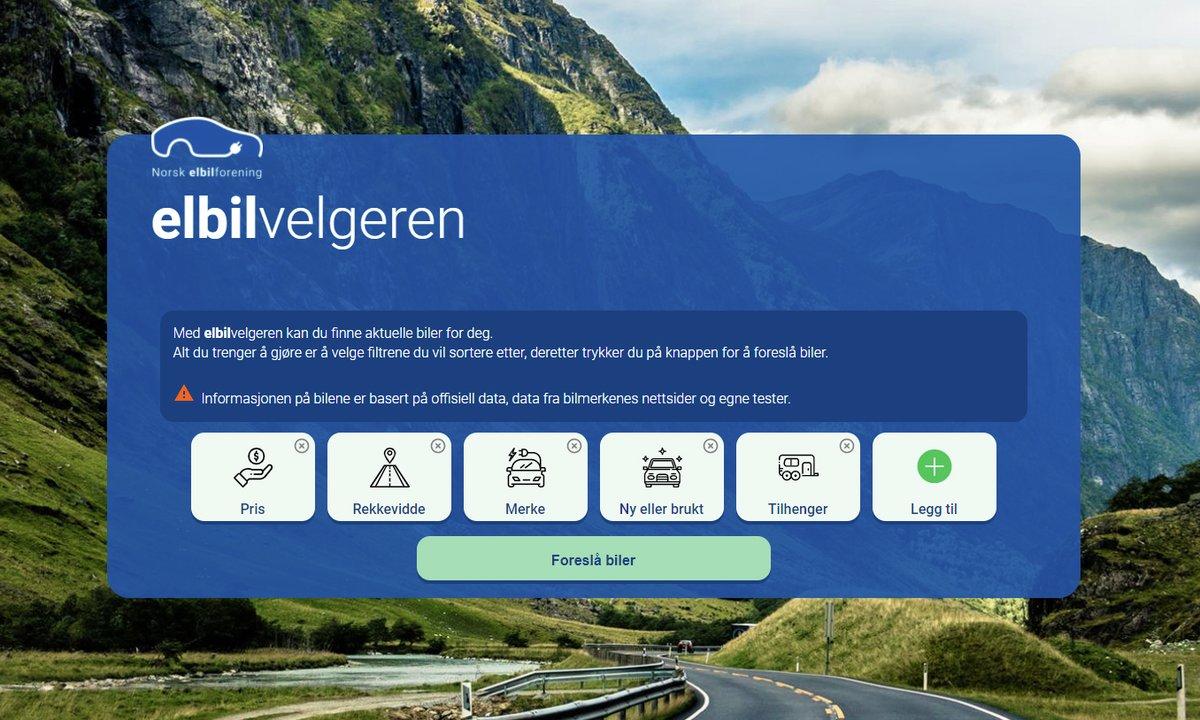 Ny tjeneste fra Norsk elbilforening: Her er Elbilvelgeren!