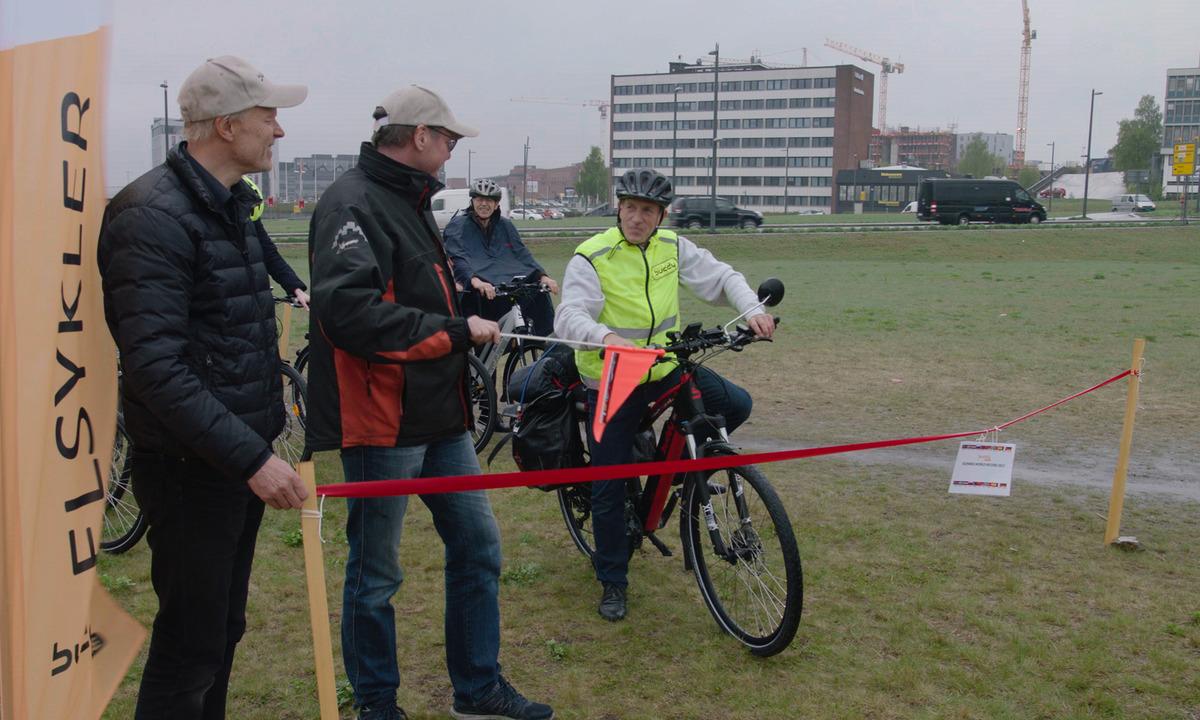 Verdensrekordforsøk på elsykkel fra Oslo