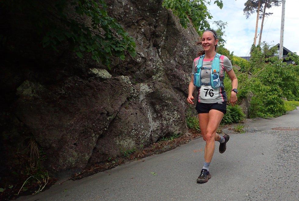 Tonje Magnussøn i Tretoppsløpet på Jeløya 2019