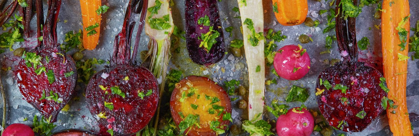 Bakte røtter med gremolata - perfekt til høstens middager