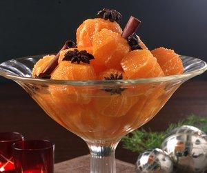 Krydrede juleklementiner i dessertglass