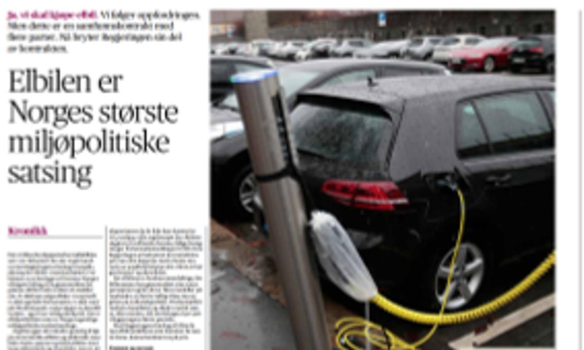 Elbilen er Norges største miljøpolitiske satsing