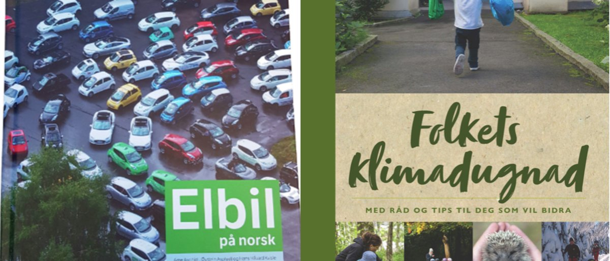 Bøker om elbil og klima til medlemspriser
