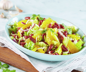Salat med bønner og appelsin