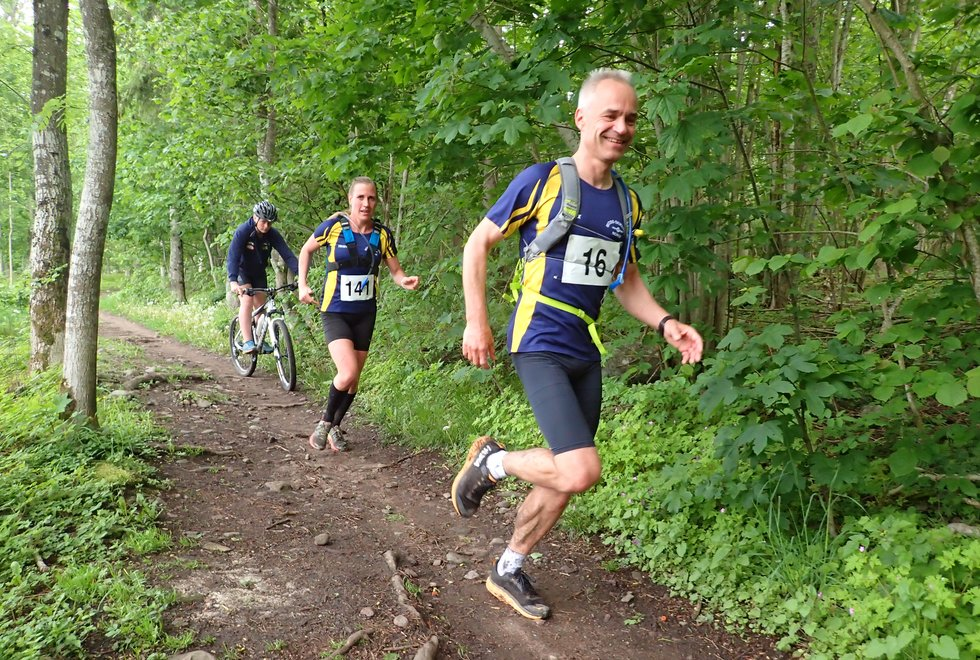 Ole Kristian Namo og Ann Kristine Bjørk Urstad i Tretoppsløpet på Jeløya 2019