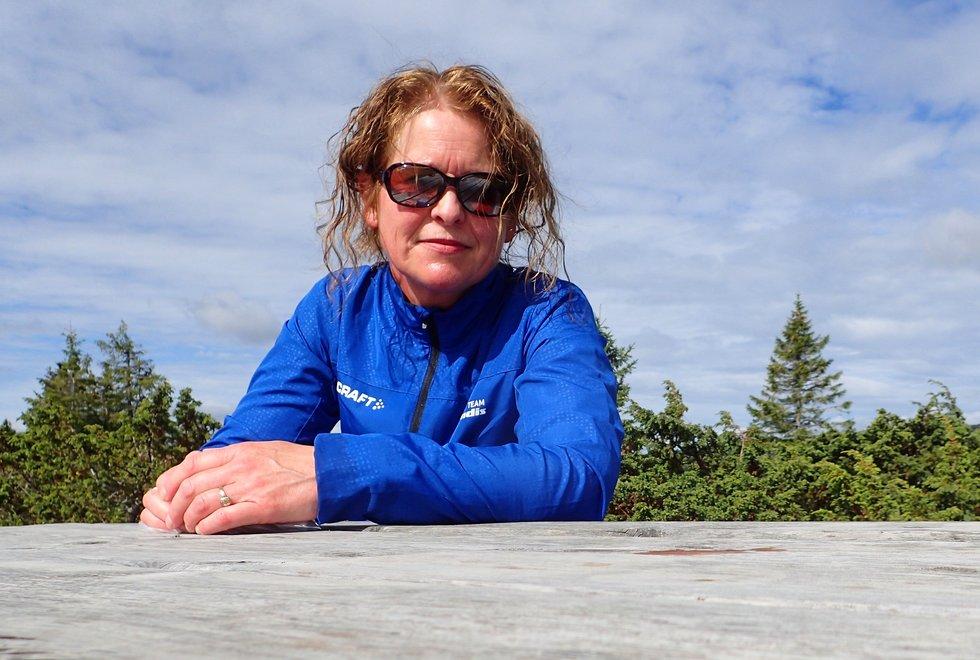 Marianne Røhme på løpetur rundt Reinsvatnet ved Ilsetra
