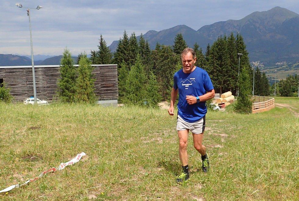 Arne Braathen i Monsterbakken i Cavalese i Val di Fiemme, Dolomittene, Italia