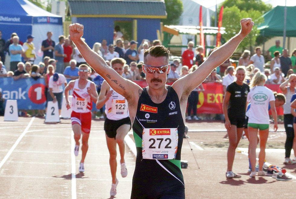 NM Friidrett 2019 på Hamar - 5000 meter menn - Henrik Ingebrigtsen