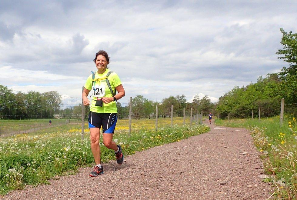 Elin Måleng Tingstad i Tretoppsløpet på Jeløya 2019
