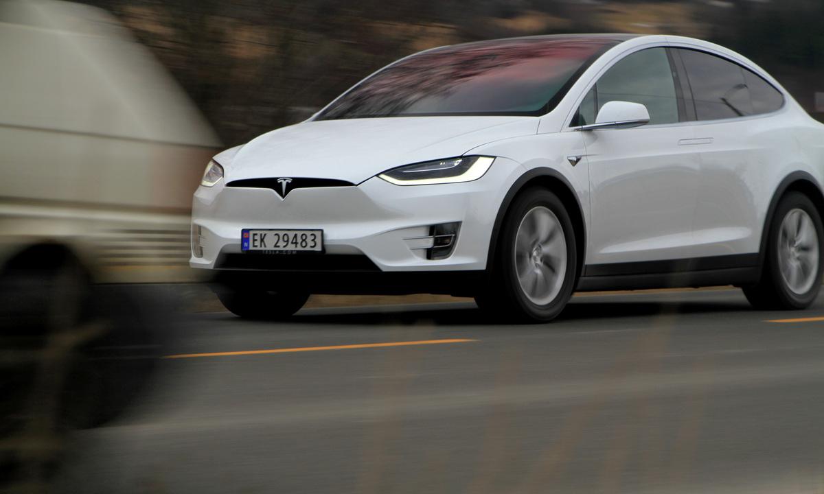 Test av Tesla Model X 90D: Brukte mye mindre strøm