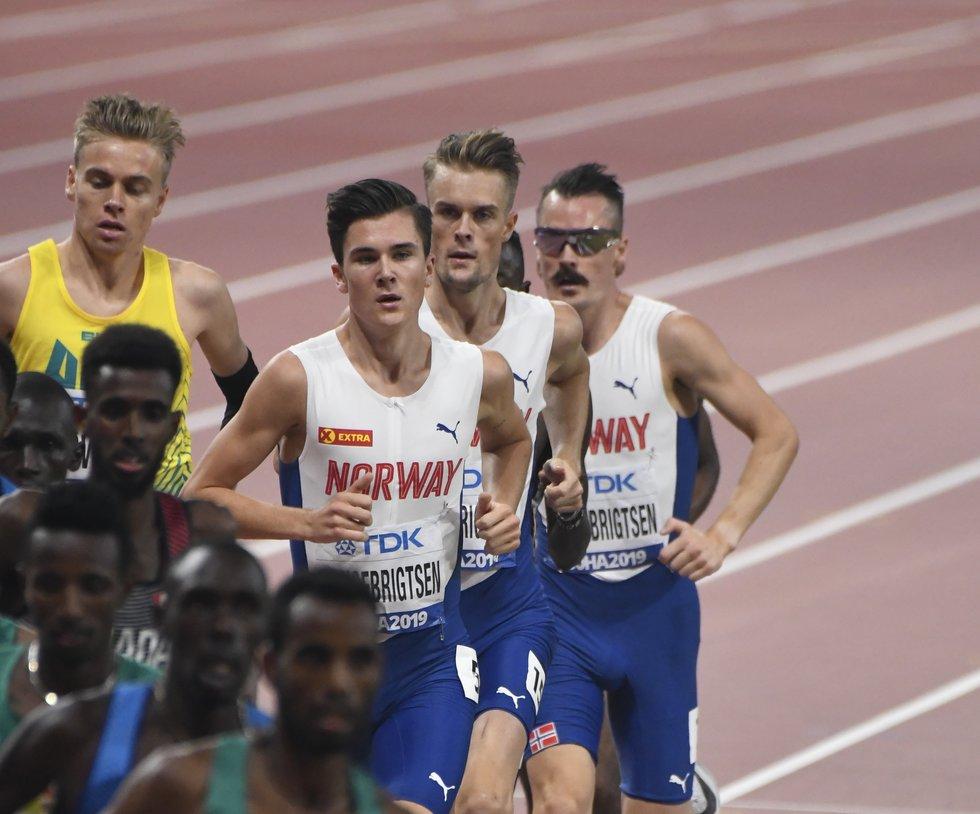 VM friidrett 2019 Doha - Jakob Ingebrigtsen - Filip Ingebrigtsen - Henrik Ingebrigtsen - finale 5000 m