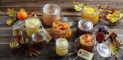 Marmelader og chutneyer - samlebilde