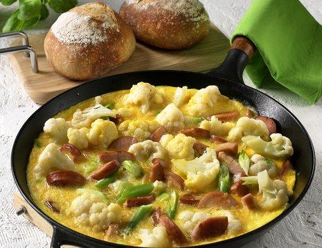 Omelett i stekepanne