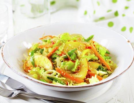 Dyp tallerken med wok