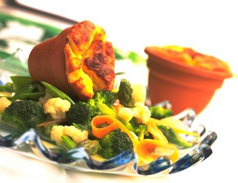 Potetsuffle med grønnsaker