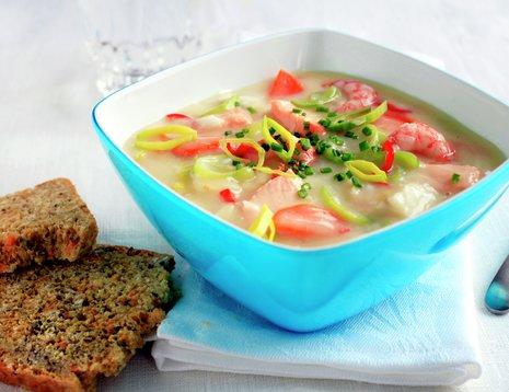 Fiskesuppe med grønnsaker