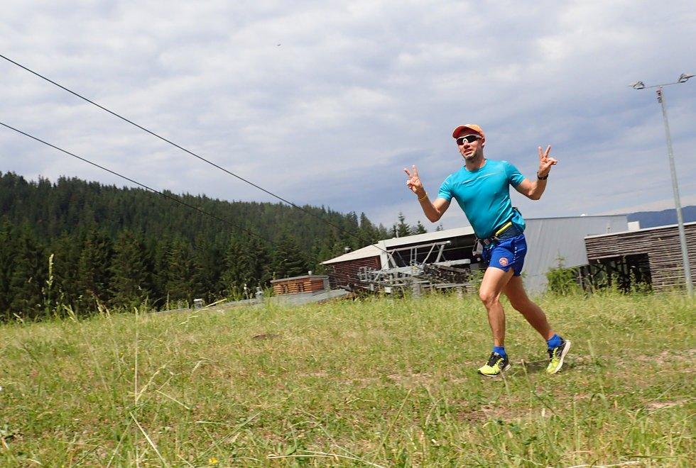 Kim Morten Smeby i Monsterbakken i Cavalese i Val di Fiemme, Dolomittene, Italia